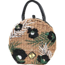 Aranaz Bags Natural/Green Rosario Round Floral Raffia Handbag Size One found on MODAPINS from Everything But Water for USD $248.00