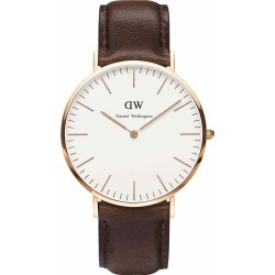 Daniel Wellington Classic Bristol men's rose gold-plated and brown leather strap watch found on MODAPINS from Fields for USD $245.70