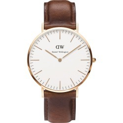 Daniel Wellington Classic St Mawes men's rose gold-plated and brown leather strap watch found on MODAPINS from Fields for USD $245.70