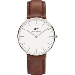 Daniel Wellington Classic St Mawes Lady stainless steel and brown leather strap watch found on MODAPINS from Fields for USD $219.70