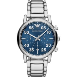 Emporio Armani Chronograph Blue Dial Stainless Steel Men's Watch