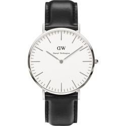 Daniel Wellington Classic Sheffield men's stainless steel and black leather strap watch found on MODAPINS from Fields for USD $245.70