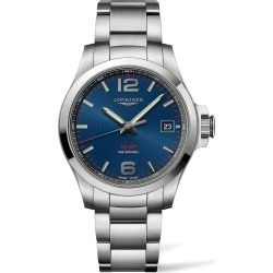 Longines Conquest V.H.P. Blue Dial Steel Bracelet Men's Watch found on MODAPINS from Fields for USD $1781.00