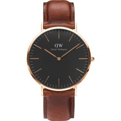 Daniel Wellington Classic Black St. Mawes Rose Gold 40mm Watch found on MODAPINS from Fields for USD $245.70