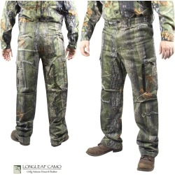 Longleaf Camo 6-Pocket Camo Pants (S)- AT Green