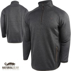 Natural Gear Cache 1/4 Zip Sweater Pullover (M)- Black