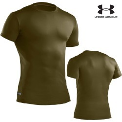 Under Armour Tactical HeatGear Compression T-Shirt (2X)- OD Green