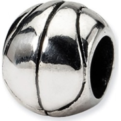 Reflections� Sterling Silver Basketball Bead / Charm