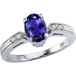 Tommaso Design� Oval 7x5 mm Genuine Iolite Ring found on Bargain Bro India from Fine Jewelers for $549.00