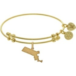 Brass With Yellow Finish Massachusetts Charm For Angelica Collection Bangle