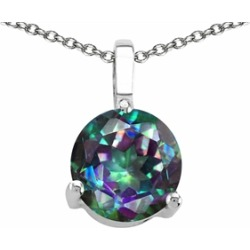 Tommaso Design� 7mm Round Rainbow Mystic Topaz Pendant Necklace found on Bargain Bro India from Fine Jewelers for $189.99