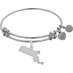 Brass With White Finish Massachusetts Charm For Angelica Collection Bangle