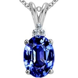 Tommaso Design� Oval Simulated Tanzanite Pendant Necklace found on Bargain Bro India from Fine Jewelers for $239.99