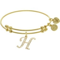 Brass With Yellow Finish  Initial H Charm For Angelica Collection Bangle