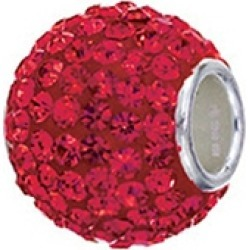 Zable� Sterling Silver Pave Crystal Birth Month - July Pandora Compatible Bead / Charm