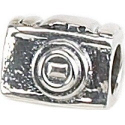 Zable� Sterling Silver 35mm Camera Bead / Charm