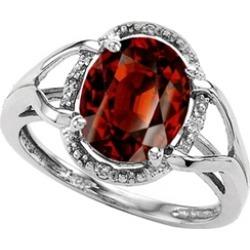 Tommaso Design� Oval 10x8mm Genuine Garnet Ring