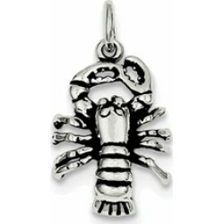 Sterling Silver Antiqued Lobster Charm