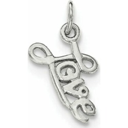 Sterling Silver Love Pendant Necklace - Chain Included