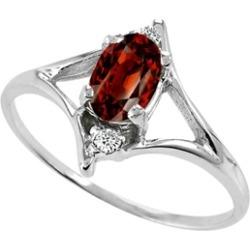 Tommaso Design� Genuine Garnet Ring