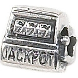 "Zable� Sterling Silver Slot Machine ""Jackpot"" Bead / Charm"