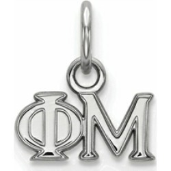 LogoArt Sterling Silver Phi Mu Extra Small Pendant Necklace found on Bargain Bro India from Fine Jewelers for $29.99