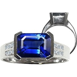 Tommaso Design� Octagon Cut 9x7mm Created Sapphire Ring found on Bargain Bro Philippines from Fine Jewelers for $699.00