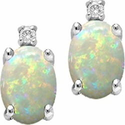 Tommaso Design� Oval 8x6mm Genuine Opal Earrings found on Bargain Bro India from Fine Jewelers for $299.99