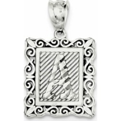Sterling Silver Initial A Charm