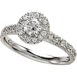 Diamond Round Engagement Ring