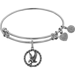 Brass With White Finish American Eagle Charm For Angelica Collection Bangle