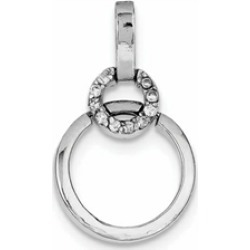 Sterling Silver Circle Cubic Zirconia Pendant Necklace - Chain Included found on Bargain Bro Philippines from Fine Jewelers for $45.99