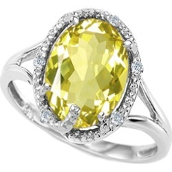 Tommaso Design� Oval 10x8mm Genuine Lemon Quartz Ring found on Bargain Bro India from Fine Jewelers for $499.00
