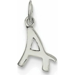 Sterling Silver Initial A Pendant Necklace - Chain Included