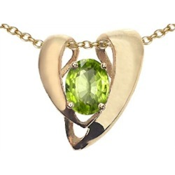 Tommaso Design� Oval 9x7mm Genuine Peridot Pendant Necklace Enhancer found on Bargain Bro India from Fine Jewelers for $699.00