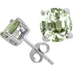 Tommaso Design� Round 7mm Green Amethyst Earrings Studs found on Bargain Bro India from Fine Jewelers for $189.99