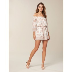 Andie Border Print Playsuit - Jacobean Blossom - 8 found on MODAPINS from Forever New Clothing for USD $41.63