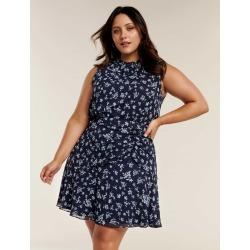 Bella Curve Ruched Mini Skirt - JASMINE WHITE DITSY - 18