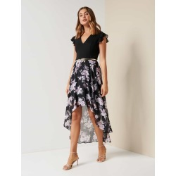 Hope Two-in-One Maxi Dress - Black Floral - 6 found on MODAPINS from Forever New Clothing for USD $92.59