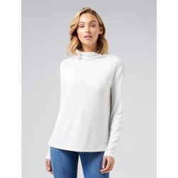 Leya Grown On Neck Cut and Sew Top - Soft Grey - l