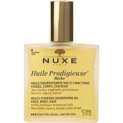 Nuxe by Nuxe Huile Prodigieuse Riche Multi-Purpose Nourishing Oil - For Very Dry Skin -/3.3OZ for WOMEN