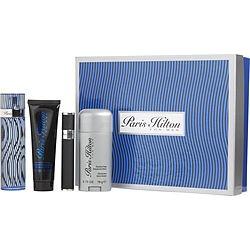 PARIS HILTON MAN by Paris Hilton SET-EDT SPRAY 3.4 OZ & HAIR AND BODY WASH 3 OZ & DEODORANT STICK ALCOHOL FREE 2.75 OZ & EDT REFILLABLE SPRAY .34 OZ MINI for MEN