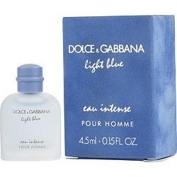D & G LIGHT BLUE EAU INTENSE by Dolce & Gabbana EAU DE PARFUM 0.15 OZ MINI for MEN found on Bargain Bro from fragrancenet.com for USD $11.39