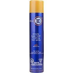 ITS A 10 by It's a 10 MIRACLE SUPER HOLD FINISHING SPRAY PLUS KERATIN 10 OZ for UNISEX found on Bargain Bro India from fragrancenet.com for $22.99