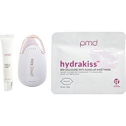 PMD by PMD Kiss System Kit: Kiss Vacuum - Blush + Kissfoliator & Kisser Tips + 2 x Hydrakiss Lip Sheet Mask & Lip Serum .17ml -5pcs for UNISEX