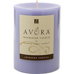 LAVENDER & VANILLA ESSENTIAL BLEND by Lavender & Vanilla Essential Blend ONE 3x4 inch PILLAR ESSENTIAL BLENDS CANDLE. BURNS APPROX. 80 HRS. for UNISEX found on Bargain Bro India from fragrancenet.com for $25.99