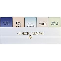 GIORGIO ARMANI VARIETY by Giorgio Armani SET-5 PIECE WOMENS VARIETY WITH ARMANI CODE & ACQUA DI GIO & ARMANI SI & ACQUA DI GIOIA & ARMANI MANIA AND ALL ARE MINIS for WOMEN