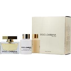 THE ONE by Dolce & Gabbana SET-EAU DE PARFUM SPRAY 2.5 OZ & BODY LOTION 3.3 OZ (TRAVEL OFFER) for WOMEN found on Bargain Bro from fragrancenet.com for USD $66.87