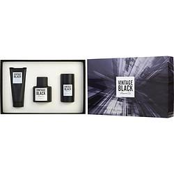 VINTAGE BLACK by Kenneth Cole SET-EDT SPRAY 3.4 OZ & AFTERSHAVE BALM 3.4 OZ & DEODORANT STICK ALCOHOL FREE 2.6 OZ for MEN