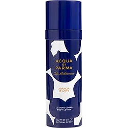 ACQUA DI PARMA BLUE MEDITERRANEO by Acqua Di Parma ARANCIA DI CAPRI BODY LOTION SPRAY 5 OZ for MEN